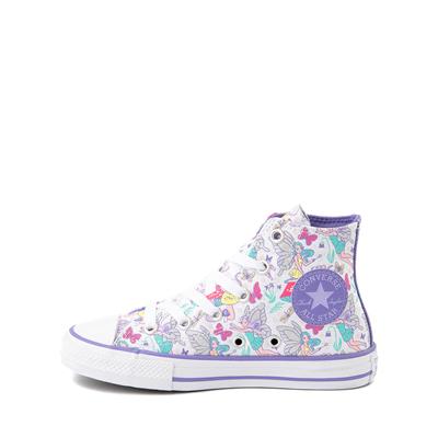 Alternate view of Converse Chuck Taylor All Star Hi Sneaker - Little Kid / Big Kid - White / Fairies