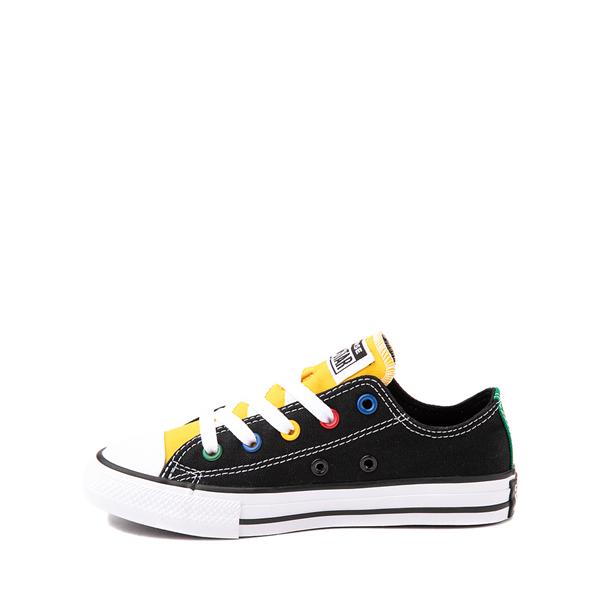 alternate view Converse Chuck Taylor All Star Lo Sneaker - Little Kid - Black / MulticolorALT1