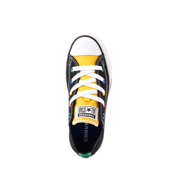 alternate view Converse Chuck Taylor All Star Lo Sneaker - Little Kid - Black / MulticolorALT2