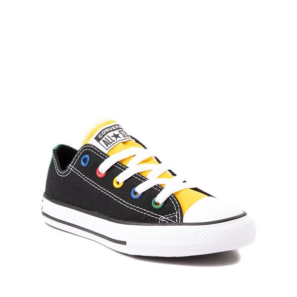 alternate view Converse Chuck Taylor All Star Lo Sneaker - Little Kid - Black / MulticolorALT5