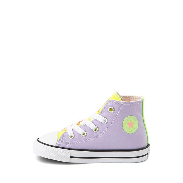 alternate view Converse Chuck Taylor All Star Hi Sneaker - Baby / Toddler - Neon Color-BlockALT1