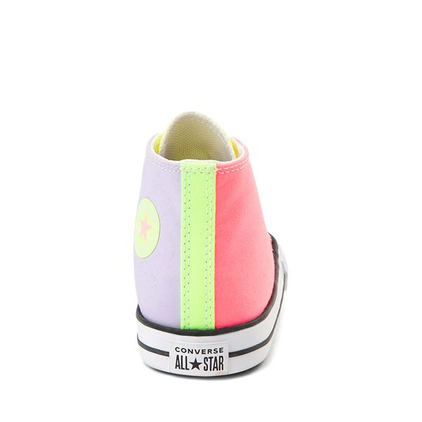 alternate view Converse Chuck Taylor All Star Hi Sneaker - Baby / Toddler - Neon Color-BlockALT4