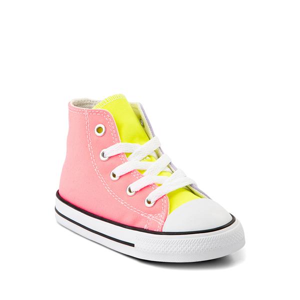 alternate view Converse Chuck Taylor All Star Hi Sneaker - Baby / Toddler - Neon Color-BlockALT5