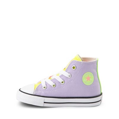 Alternate view of Converse Chuck Taylor All Star Hi Sneaker - Baby / Toddler - Neon Color-Block