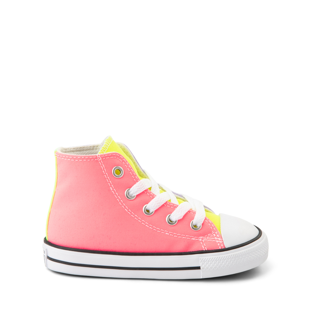 Converse Chuck Taylor All Star Hi Sneaker - Baby / Toddler - Neon Color-Block