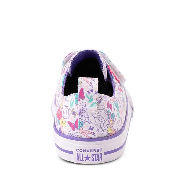 alternate view Converse Chuck Taylor All Star 2V Lo Sneaker - Baby / Toddler - White / FairiesALT4