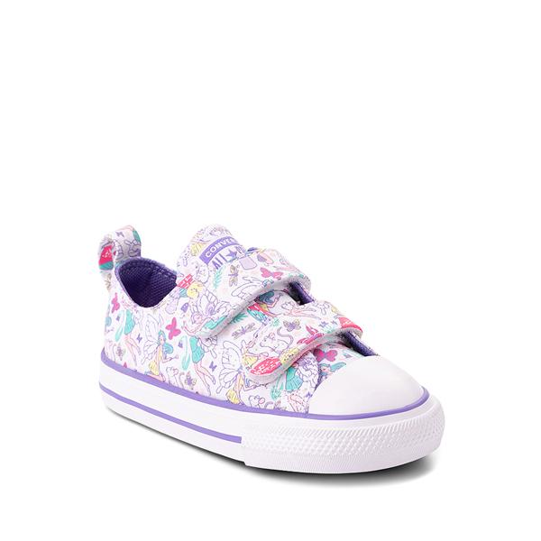 alternate view Converse Chuck Taylor All Star 2V Lo Sneaker - Baby / Toddler - White / FairiesALT5