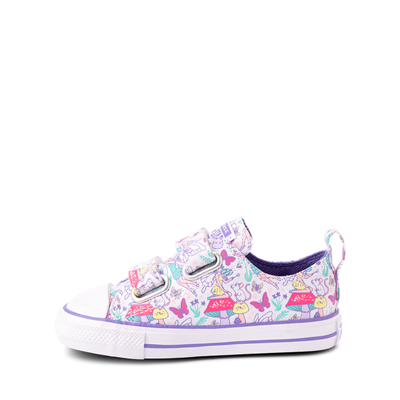 Alternate view of Converse Chuck Taylor All Star 2V Lo Sneaker - Baby / Toddler - White / Fairies