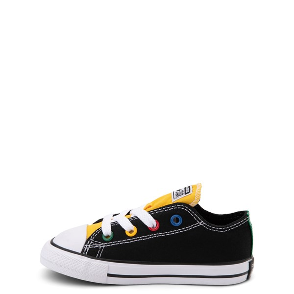 alternate view Converse Chuck Taylor All Star Lo Sneaker - Baby / Toddler - Black / MulticolorALT1