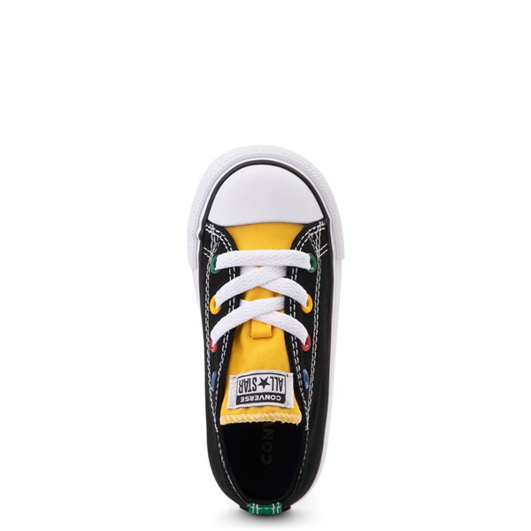 alternate view Converse Chuck Taylor All Star Lo Sneaker - Baby / Toddler - Black / MulticolorALT2