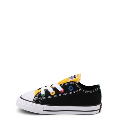 Alternate view of Converse Chuck Taylor All Star Lo Sneaker - Baby / Toddler - Black / Multicolor