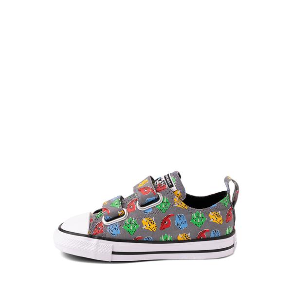 alternate view Converse Chuck Taylor All Star 2V Lo Dinos Sneaker - Baby / Toddler - GrayALT1