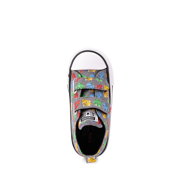alternate view Converse Chuck Taylor All Star 2V Lo Dinos Sneaker - Baby / Toddler - GrayALT2