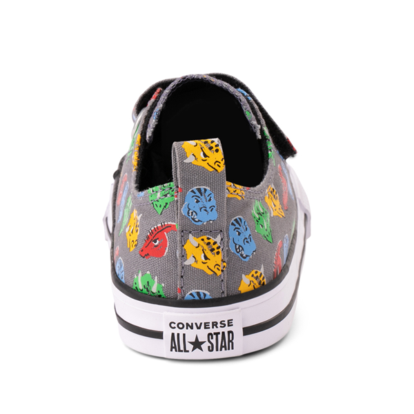 alternate view Converse Chuck Taylor All Star 2V Lo Dinos Sneaker - Baby / Toddler - GrayALT4