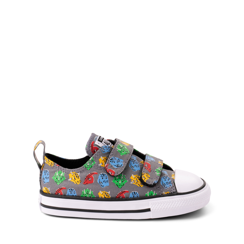 Converse Chuck Taylor All Star 2V Lo Dinos Sneaker - Baby / Toddler - Gray