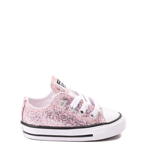 Main view of Converse Chuck Taylor All Star Lo Glitter Sneaker - Baby / Toddler - Pink Foam