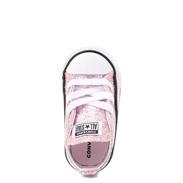alternate view Converse Chuck Taylor All Star Lo Glitter Sneaker - Baby / Toddler - Pink FoamALT2