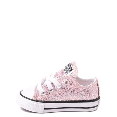 Alternate view of Converse Chuck Taylor All Star Lo Glitter Sneaker - Baby / Toddler - Pink Foam