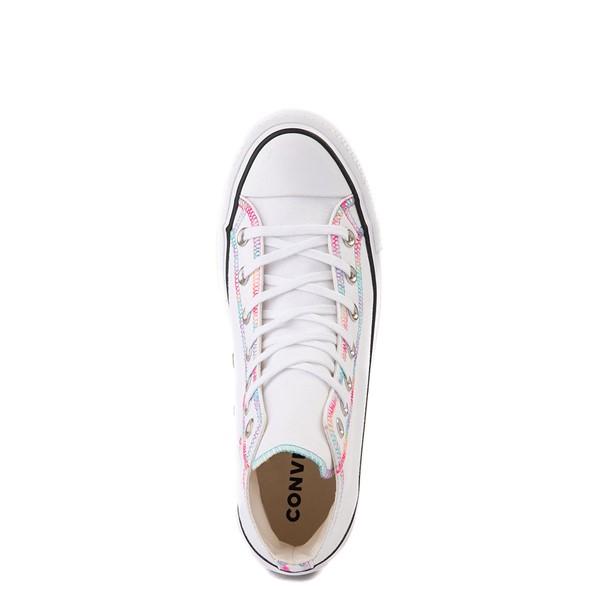 alternate view Womens Converse Chuck Taylor All Star Hi Lift Color-Pop Sneaker - White / MulticolorALT2