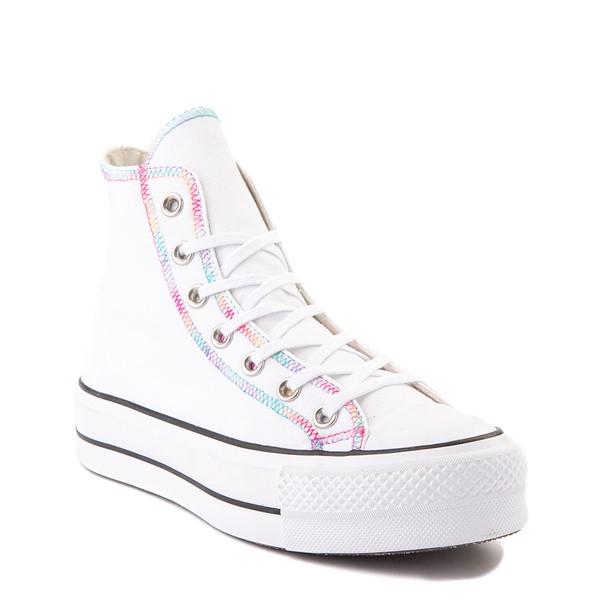 alternate view Womens Converse Chuck Taylor All Star Hi Lift Color-Pop Sneaker - White / MulticolorALT5