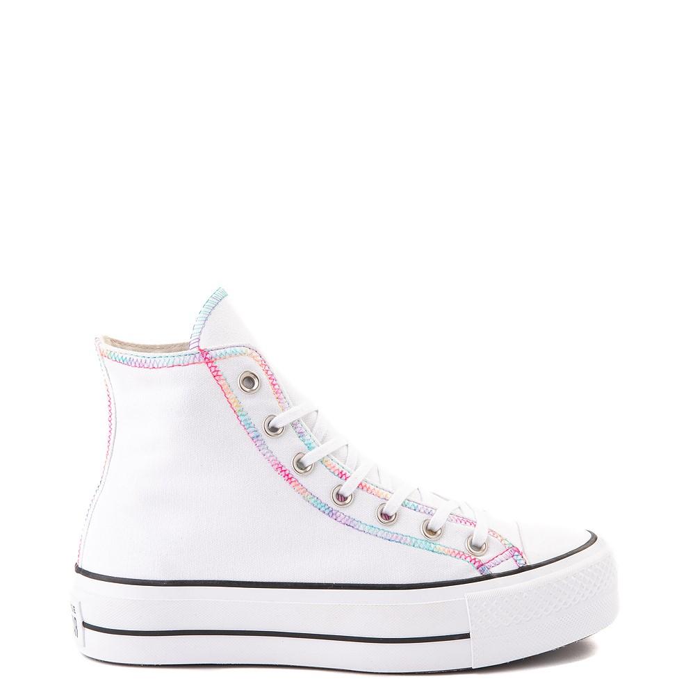 Womens Converse Chuck Taylor All Star Hi Lift Color-Pop Sneaker - White / Multicolor