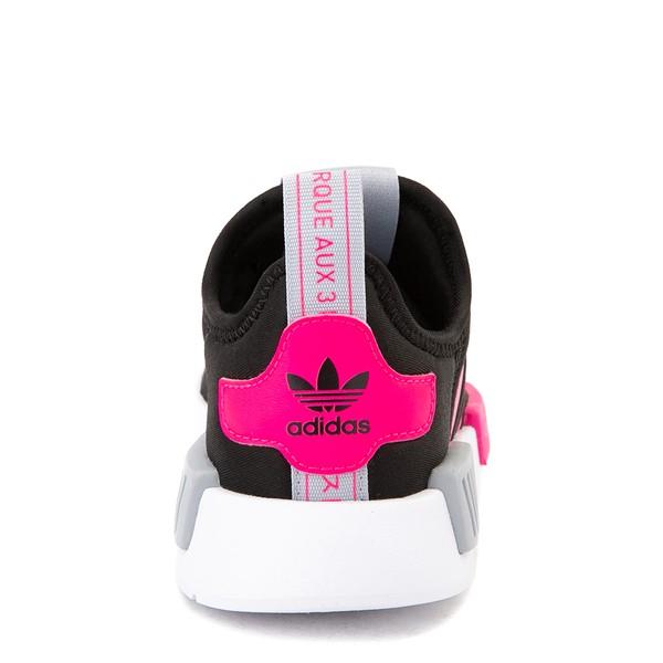 alternate view adidas NMD 360 Slip On Athletic Shoe - Little Kid - Core Black / Shock Pink / Halo SilverALT4