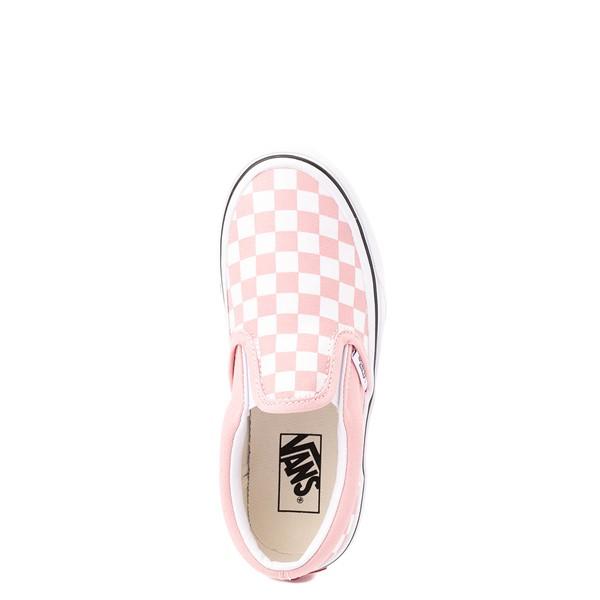 alternate view Vans Slip On Checkerboard Skate Shoe - Little Kid - Powder PinkALT2