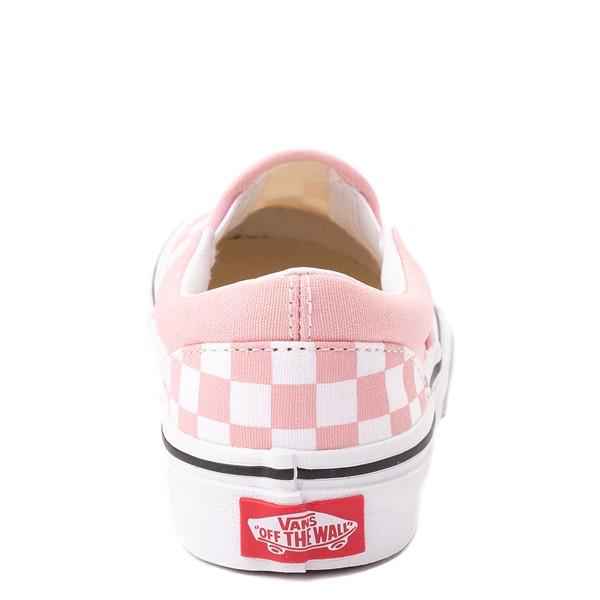 alternate view Vans Slip On Checkerboard Skate Shoe - Little Kid - Powder PinkALT4