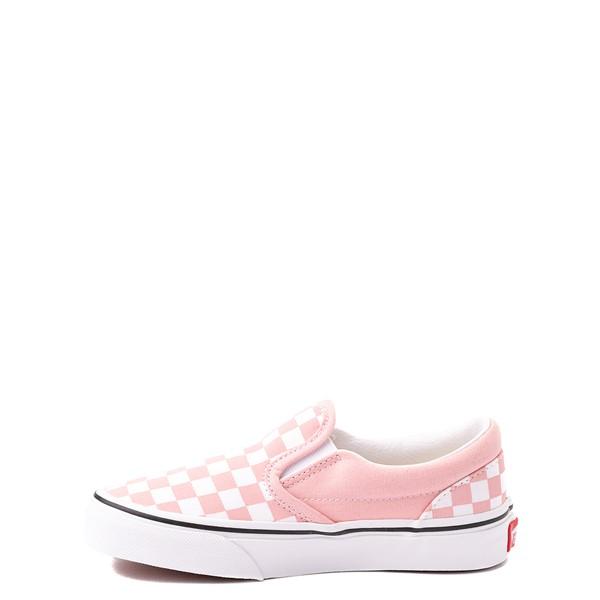 alternate view Vans Slip On Checkerboard Skate Shoe - Big Kid - Powder PinkALT1