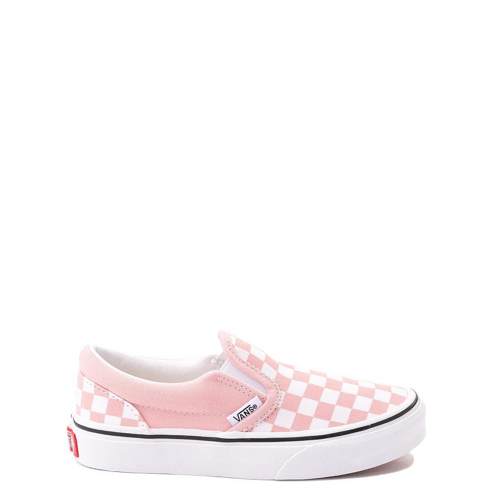 Vans Slip On Checkerboard Skate Shoe - Big Kid - Powder Pink