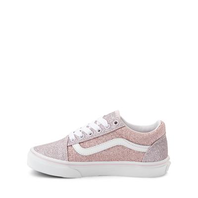 Alternate view of Vans Old Skool Glitter Skate Shoe - Little Kid - Orchid Ice / Powder Pink