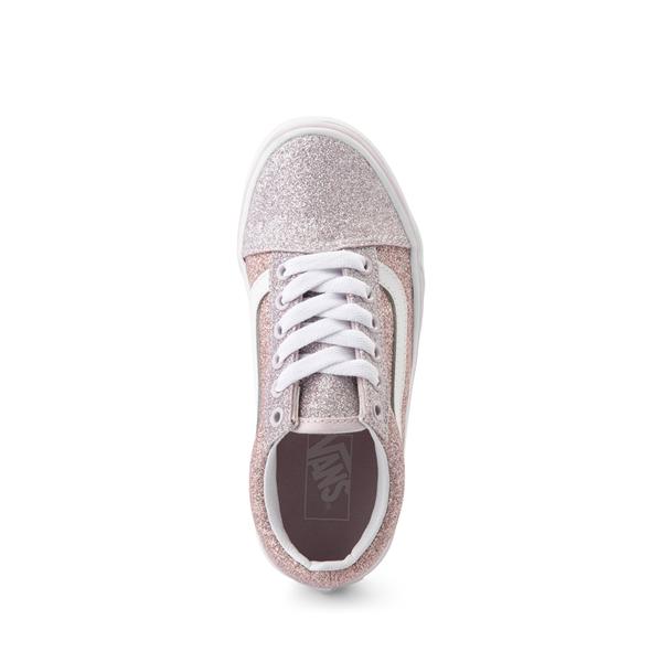 alternate view Vans Old Skool Glitter Skate Shoe - Big Kid - Orchid Ice / Powder PinkALT2
