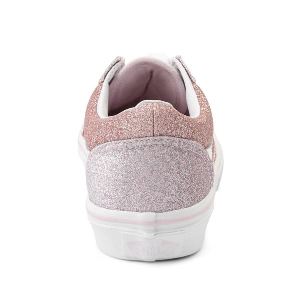 alternate view Vans Old Skool Glitter Skate Shoe - Big Kid - Orchid Ice / Powder PinkALT4