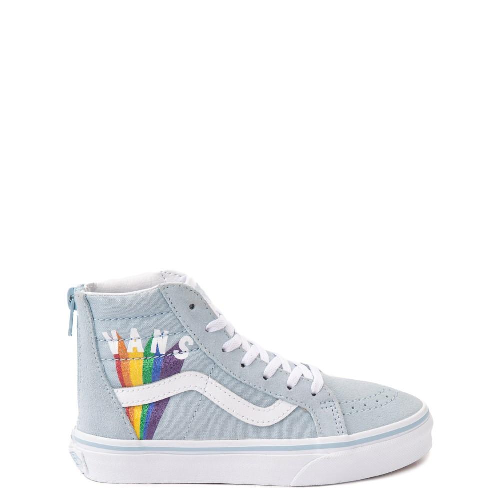 Vans Sk8 Hi Zip Rainbow Skate Shoe - Little Kid - Winter Sky