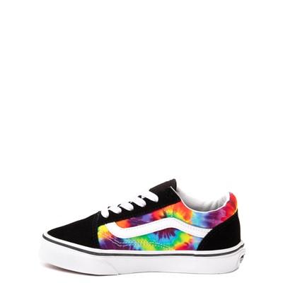 Alternate view of Vans Old Skool Skate Shoe - Little Kid - Black / Tie Dye