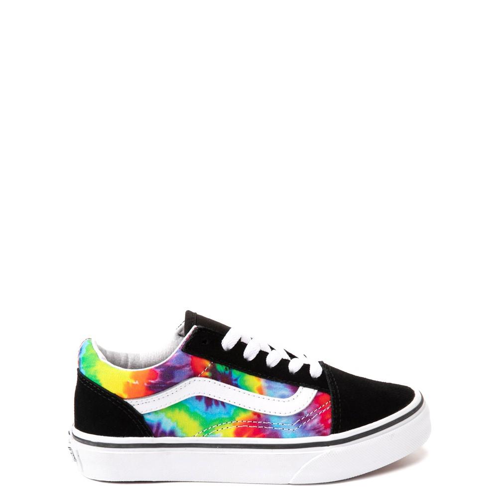 Vans Old Skool Skate Shoe - Little Kid - Black / Tie Dye