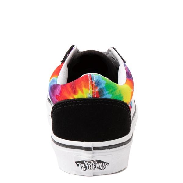 alternate view Vans Old Skool Skate Shoe - Big Kid - Black / Tie DyeALT4