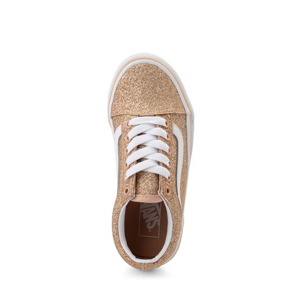 alternate view Vans Old Skool Glitter Skate Shoe - Little Kid - AmberlightALT2