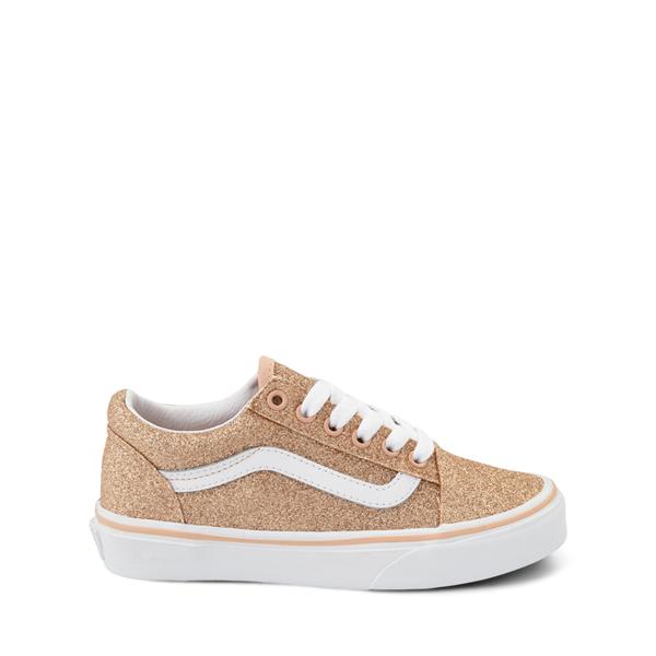 Vans Old Skool Glitter Skate Shoe - Big Kid - Amberlight