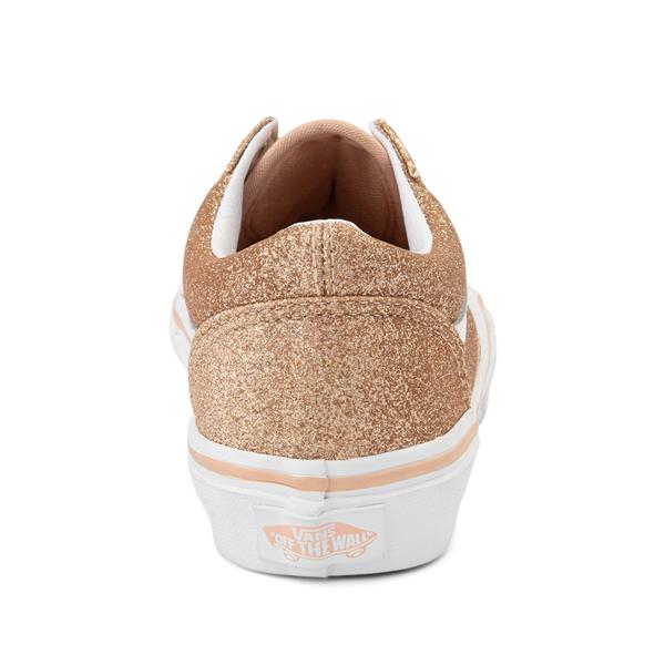 alternate view Vans Old Skool Glitter Skate Shoe - Big Kid - AmberlightALT4