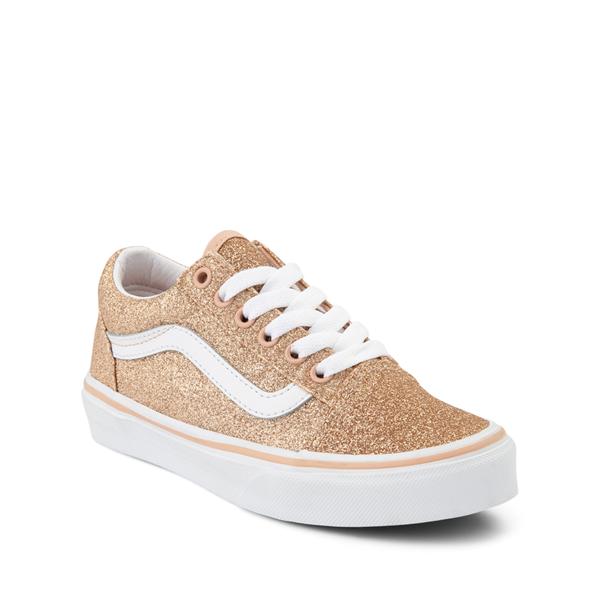 alternate view Vans Old Skool Glitter Skate Shoe - Big Kid - AmberlightALT5