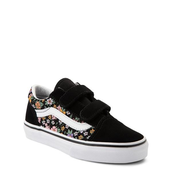 alternate view Vans Old Skool V Fun Floral Skate Shoe - Little Kid - BlackALT5