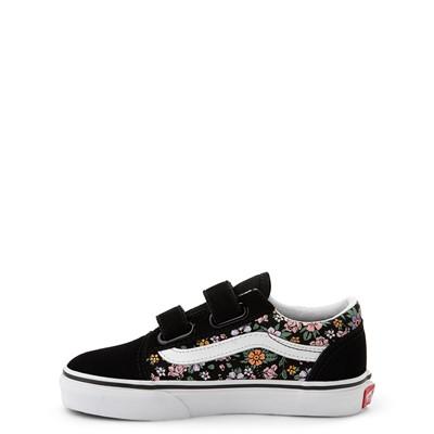 Alternate view of Vans Old Skool V Fun Floral Skate Shoe - Little Kid - Black
