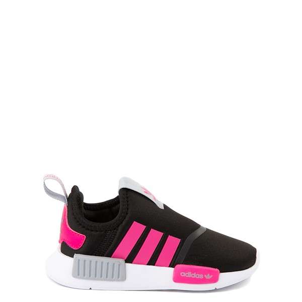 adidas NMD 360 Slip On Athletic Shoe - Baby / Toddler - Core Black / Shock Pink / Halo Silver