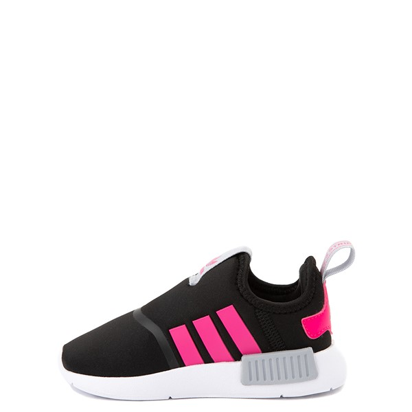 alternate view adidas NMD 360 Slip On Athletic Shoe - Baby / Toddler - Core Black / Shock Pink / Halo SilverALT1