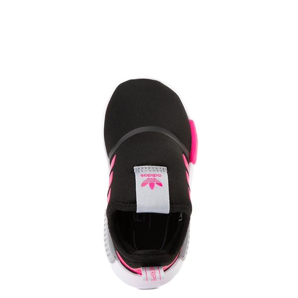 alternate view adidas NMD 360 Slip On Athletic Shoe - Baby / Toddler - Core Black / Shock Pink / Halo SilverALT2
