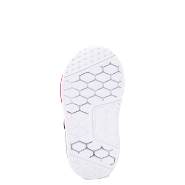 alternate view adidas NMD 360 Slip On Athletic Shoe - Baby / Toddler - Core Black / Shock Pink / Halo SilverALT3