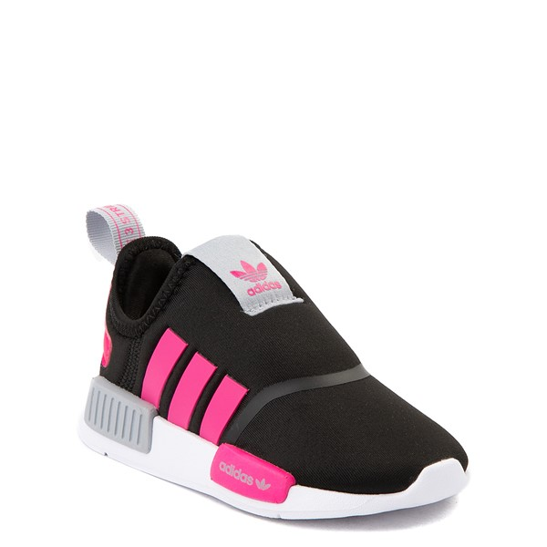 alternate view adidas NMD 360 Slip On Athletic Shoe - Baby / Toddler - Core Black / Shock Pink / Halo SilverALT5