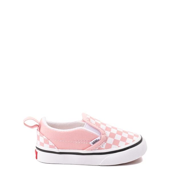 Vans Slip On V Checkerboard Skate Shoe - Baby / Toddler - Powder Pink