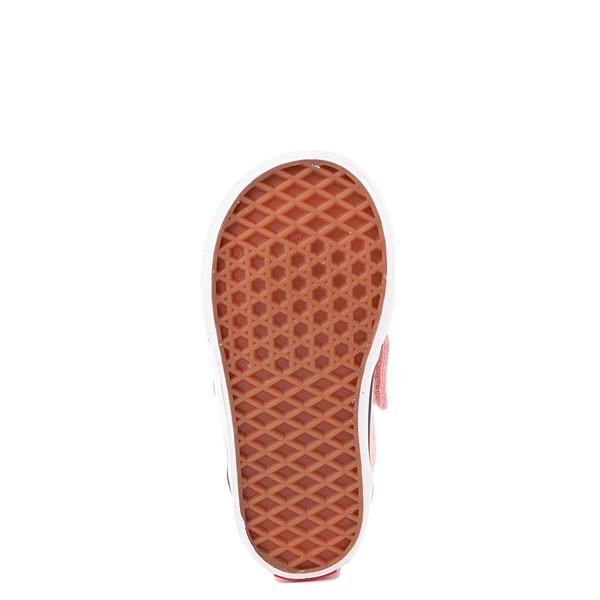alternate view Vans Slip On V Checkerboard Skate Shoe - Baby / Toddler - Powder PinkALT3